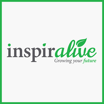 Inspiralive Logo with Green Borders